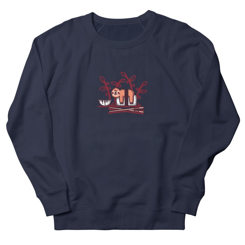 Sloth sushi Men's French Terry Sweatshirt by Randyotter