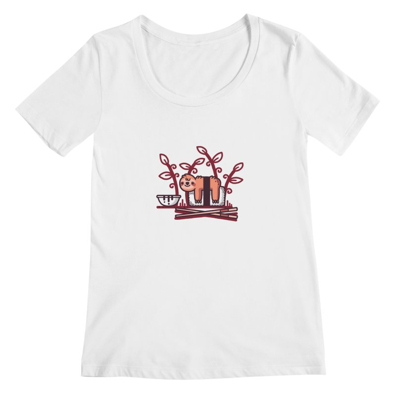 Sloth sushi Women's Scoop Neck by Randyotter