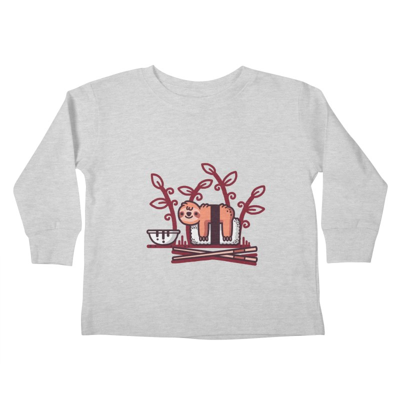 Sloth sushi Kids Toddler Longsleeve T-Shirt by Randyotter