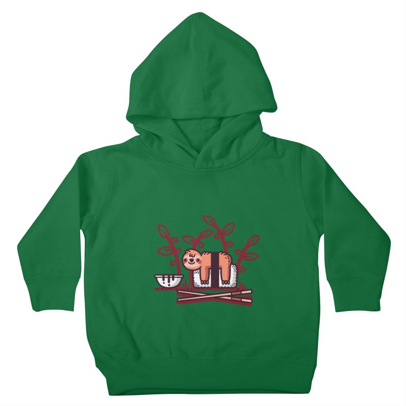 Sloth sushi Kids Toddler Pullover Hoody by Randyotter