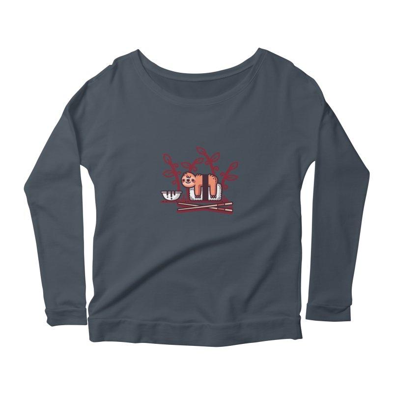 Sloth sushi Women's Scoop Neck Longsleeve T-Shirt by Randyotter
