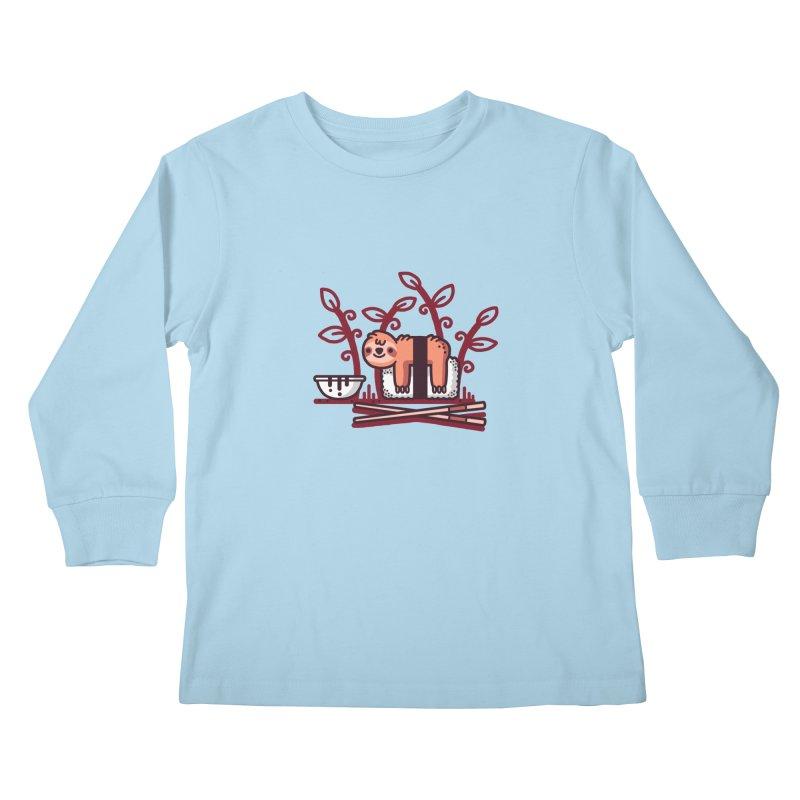 Sloth sushi Kids Longsleeve T-Shirt by Randyotter