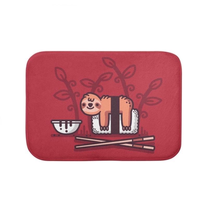 Sloth sushi Home Bath Mat by Randyotter