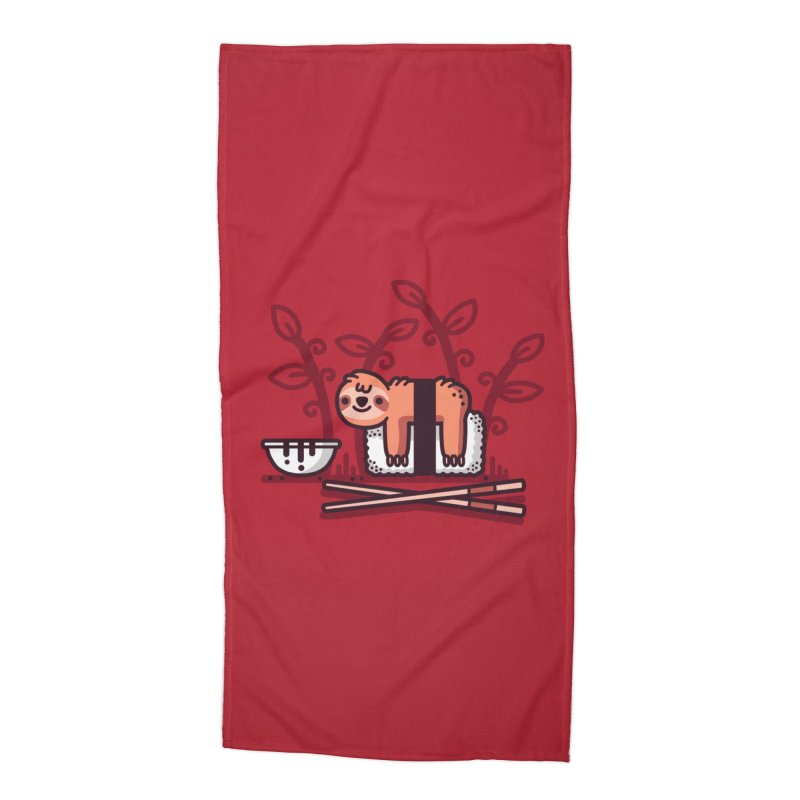 Sloth sushi Accessories Beach Towel by Randyotter