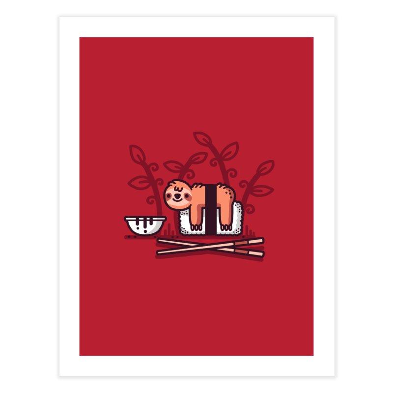 Sloth sushi Home Fine Art Print by Randyotter