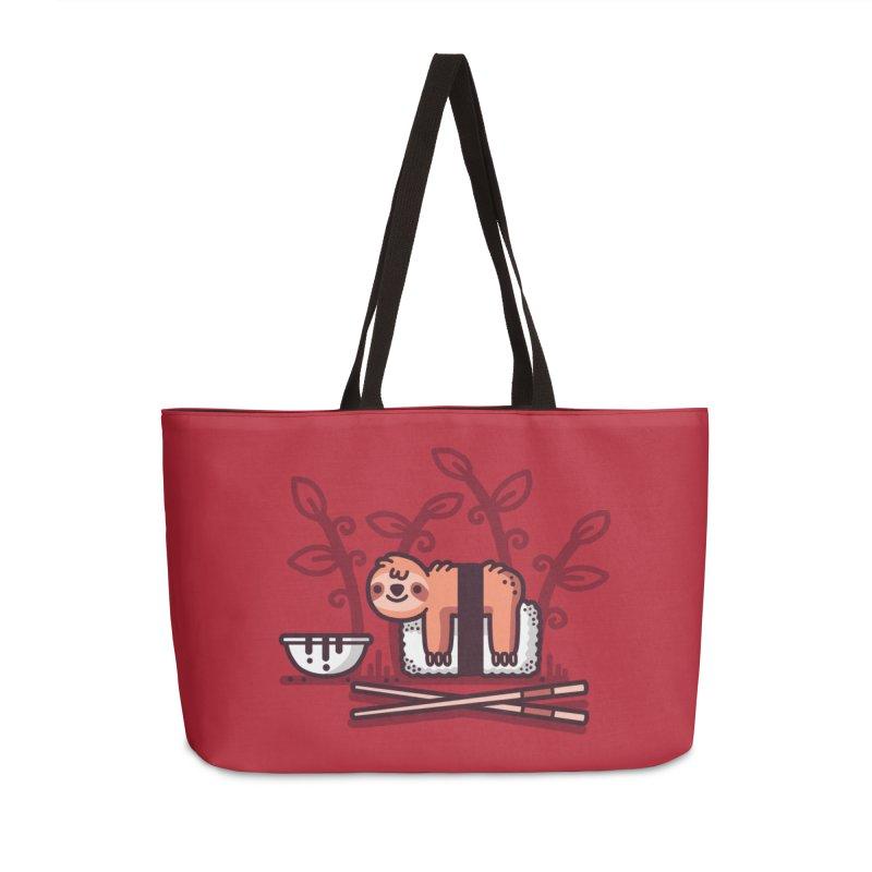 Sloth sushi Accessories Weekender Bag Bag by Randyotter