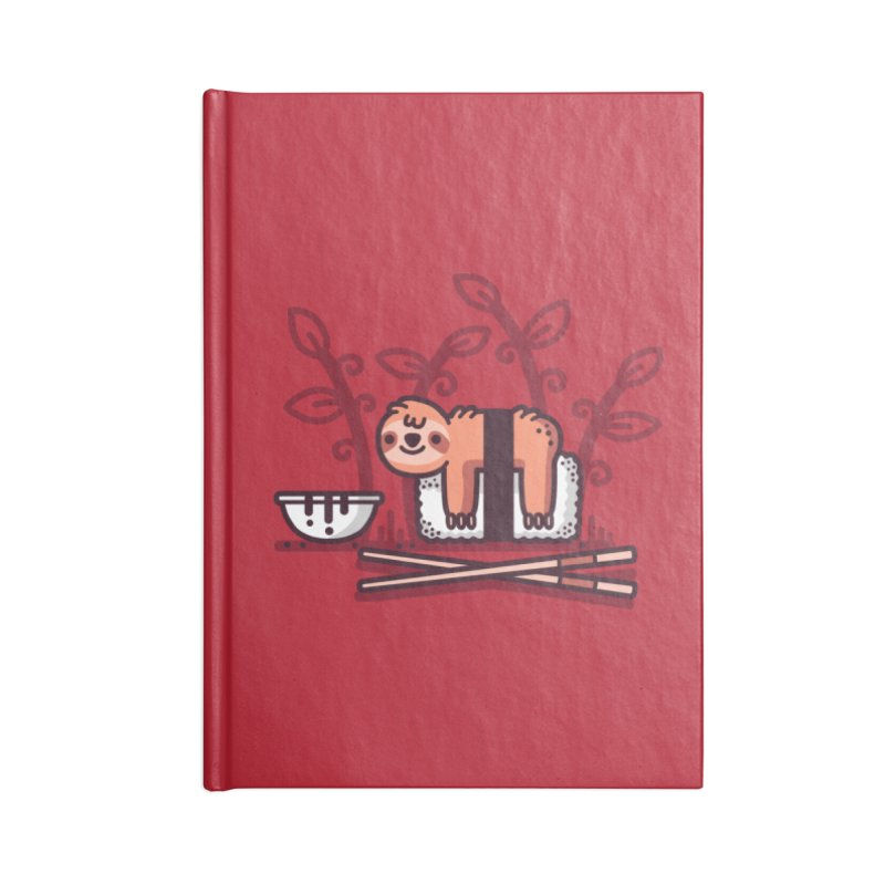 Sloth sushi Accessories Blank Journal Notebook by Randyotter
