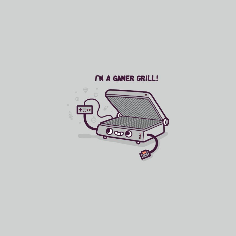 Gamer grill Accessories Zip Pouch by Randyotter