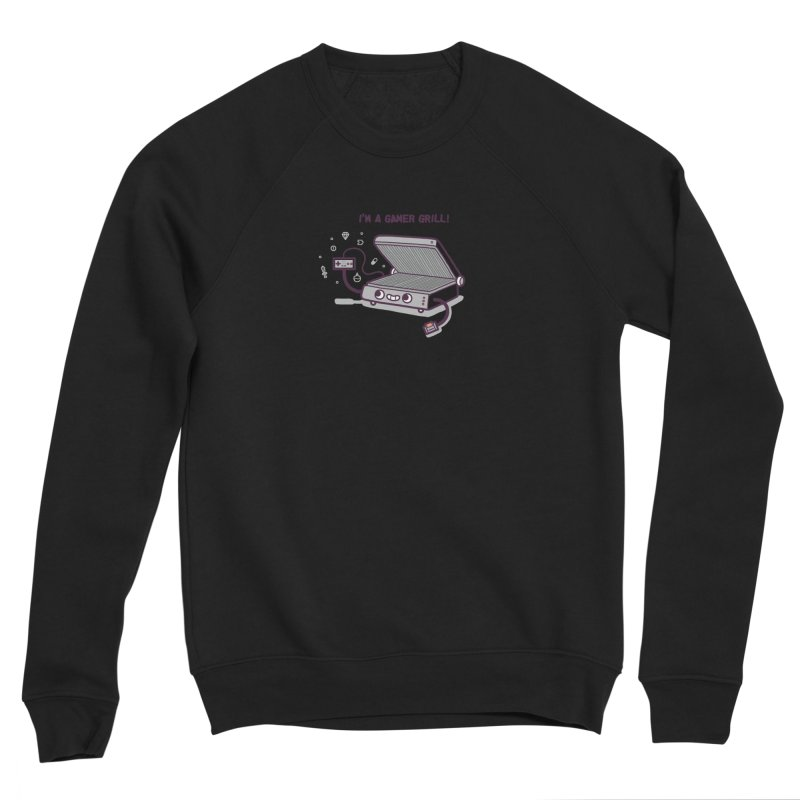 Gamer grill Men's Sponge Fleece Sweatshirt by Randyotter