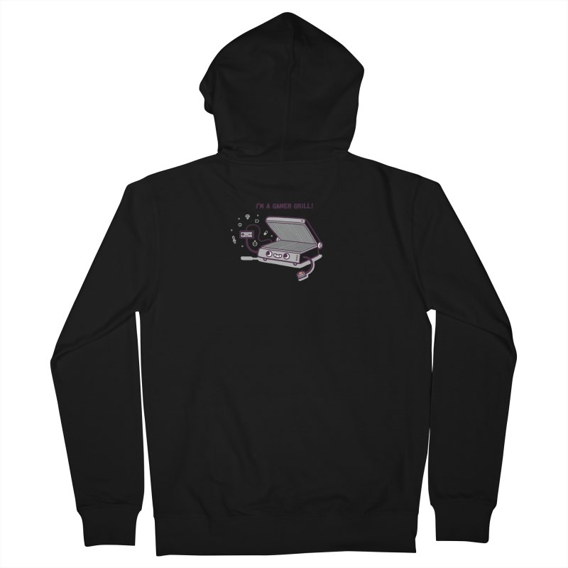 Gamer grill Men's French Terry Zip-Up Hoody by Randyotter