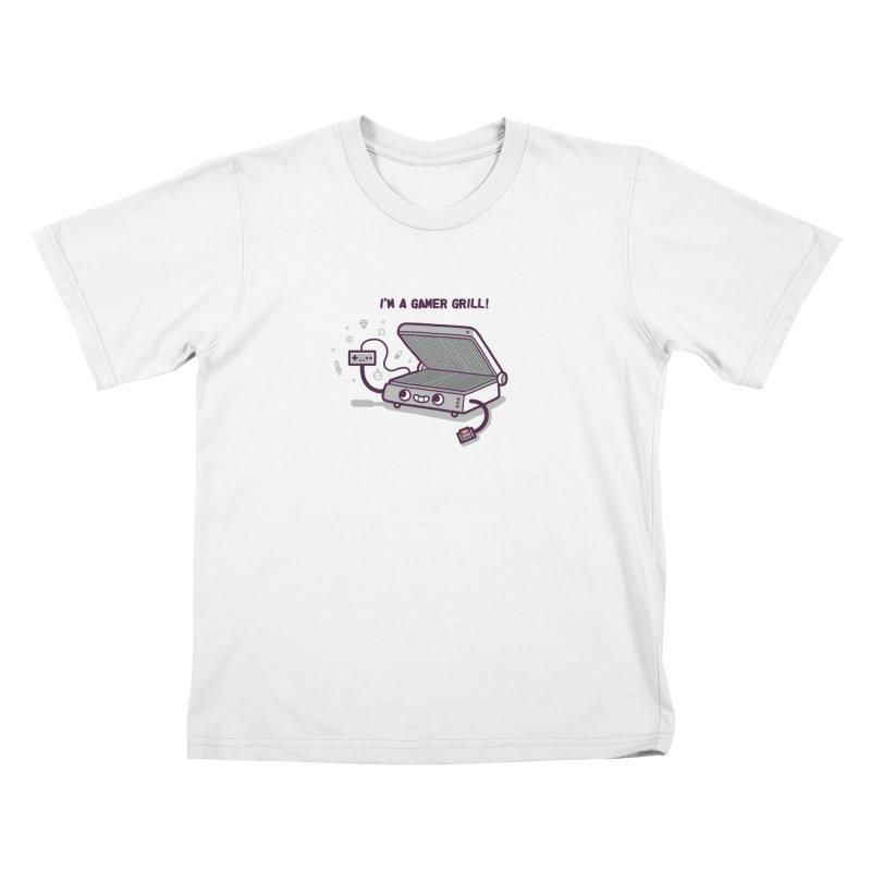 Gamer grill Kids T-Shirt by Randyotter