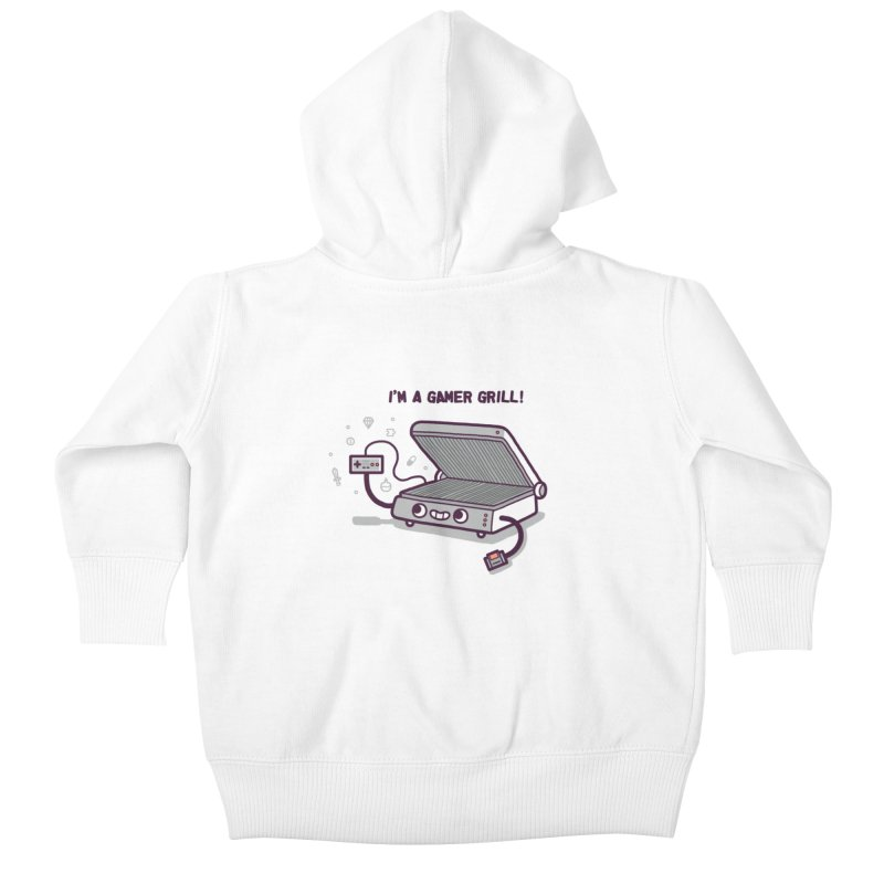 Gamer grill Kids Baby Zip-Up Hoody by Randyotter