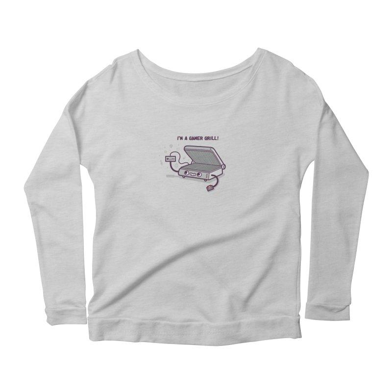 Gamer grill Women's Scoop Neck Longsleeve T-Shirt by Randyotter