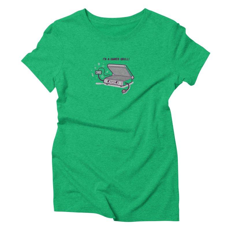 Gamer grill Women's Triblend T-Shirt by Randyotter