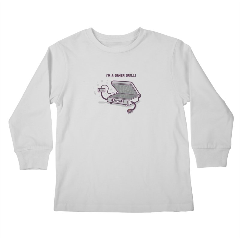Gamer grill Kids Longsleeve T-Shirt by Randyotter