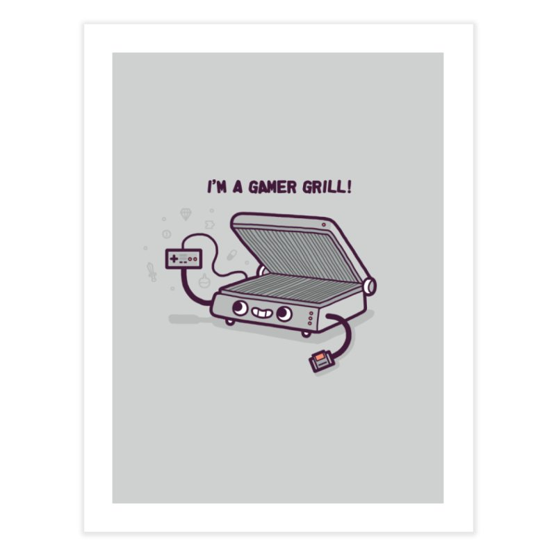 Gamer grill Home Fine Art Print by Randyotter