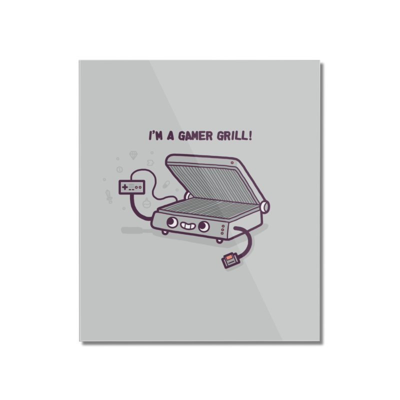Gamer grill Home Mounted Acrylic Print by Randyotter