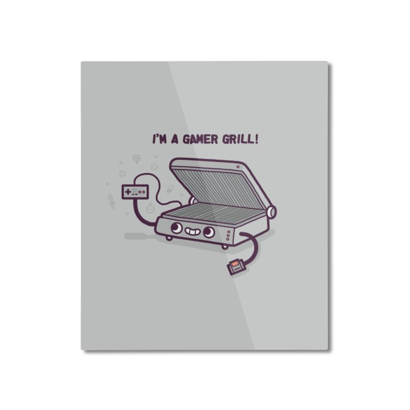Gamer grill Home Mounted Aluminum Print by Randyotter