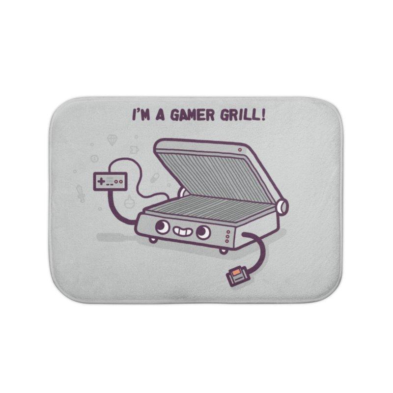 Gamer grill Home Bath Mat by Randyotter