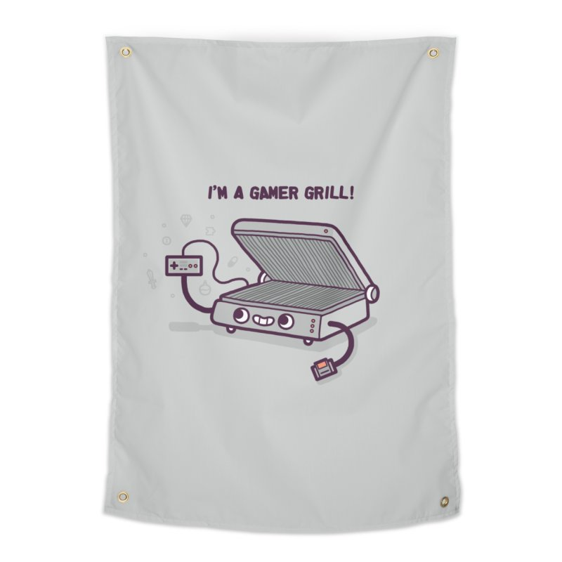 Gamer grill Home Tapestry by Randyotter