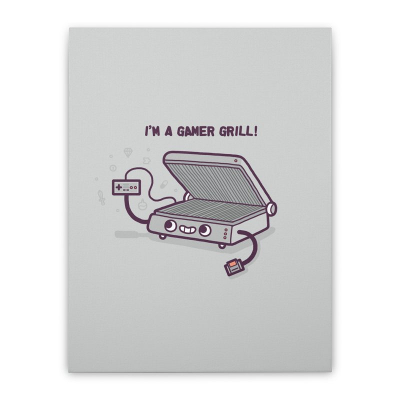 Gamer grill Home Stretched Canvas by Randyotter