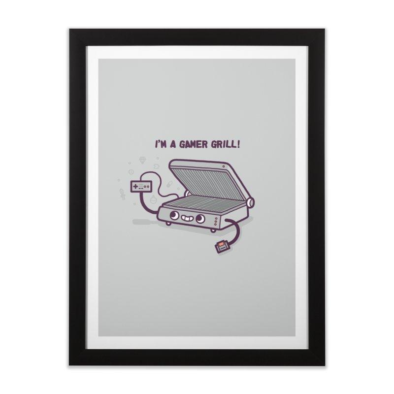 Gamer grill Home Framed Fine Art Print by Randyotter