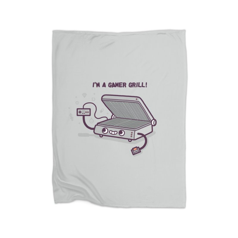 Gamer grill Home Fleece Blanket Blanket by Randyotter