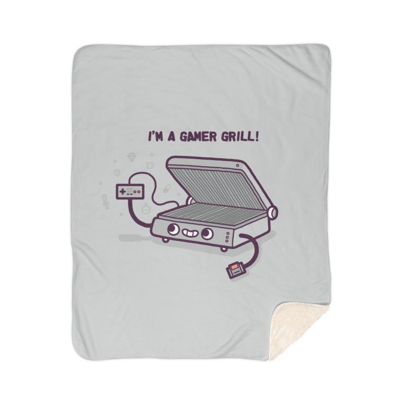 Gamer grill Home Sherpa Blanket Blanket by Randyotter