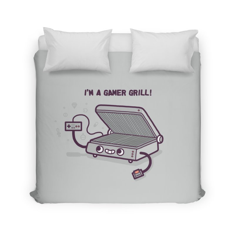 Gamer grill Home Duvet by Randyotter