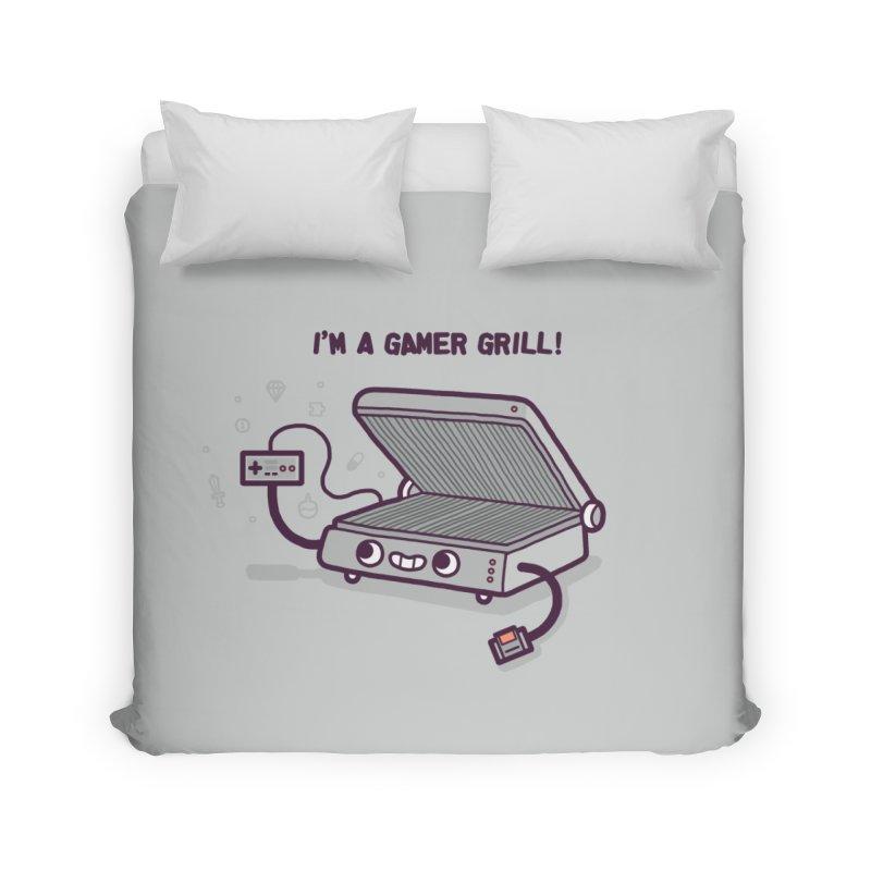 Gamer grill Home Duvet by Randyotter