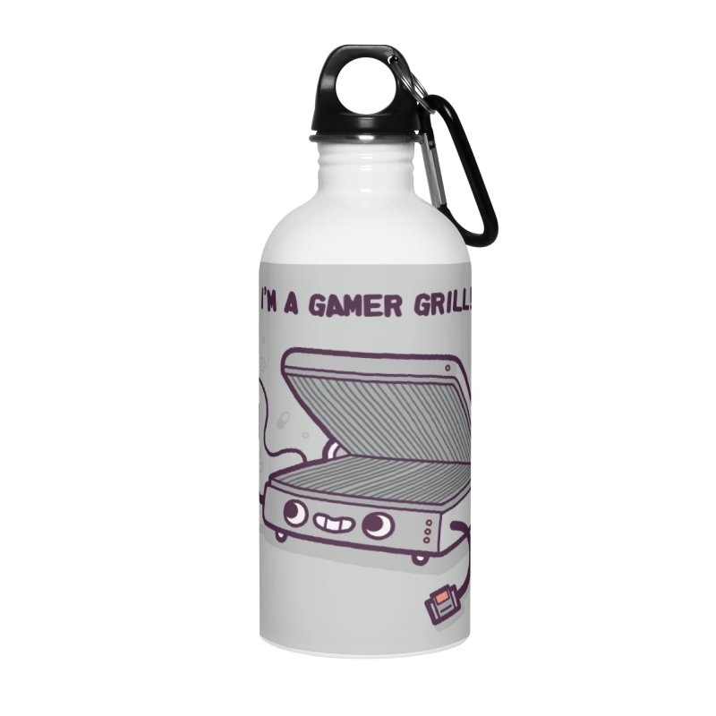 Gamer grill Accessories Water Bottle by Randyotter