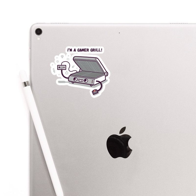 Gamer grill Accessories Sticker by Randyotter
