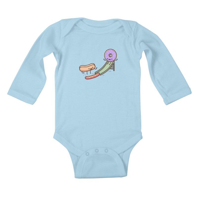 Hotdog prank Kids Baby Longsleeve Bodysuit by Randyotter