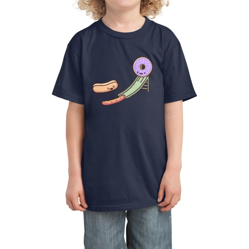 Hotdog prank Kids T-Shirt by Randyotter