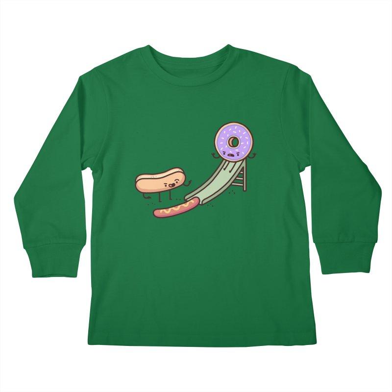 Hotdog prank Kids Longsleeve T-Shirt by Randyotter