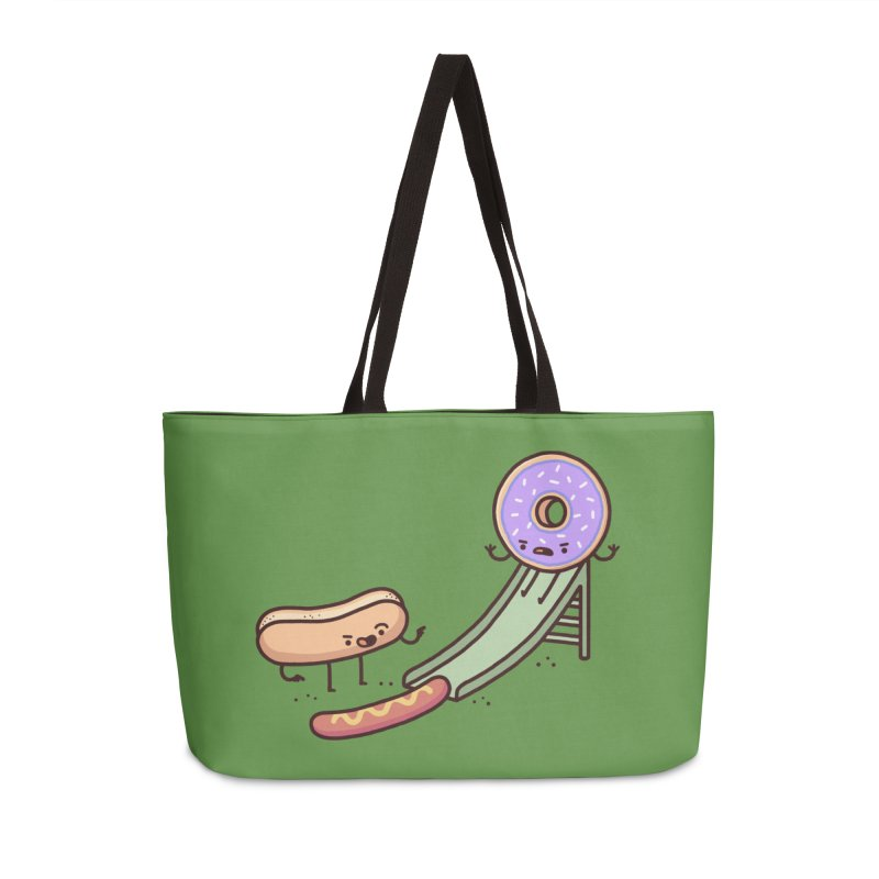 Hotdog prank Accessories Weekender Bag Bag by Randyotter