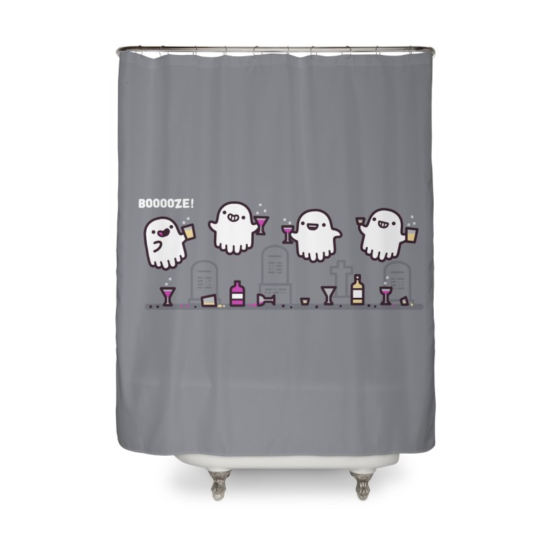 Booooze! Home Shower Curtain by Randyotter