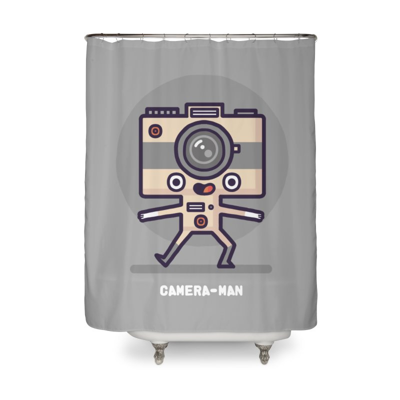 Camera-man Home Shower Curtain by Randyotter