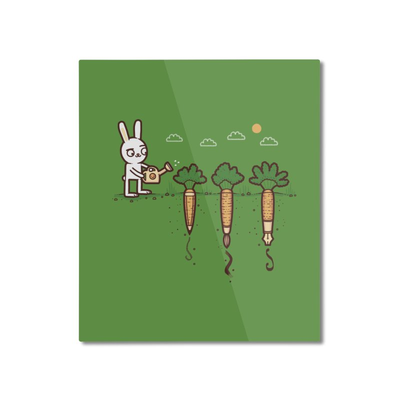 Carrot creativity Home Mounted Aluminum Print by Randyotter