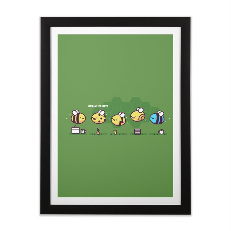 Casual Friday Home Framed Fine Art Print by Randyotter