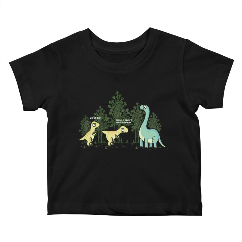 Herbivore Kids Baby T-Shirt by Randyotter