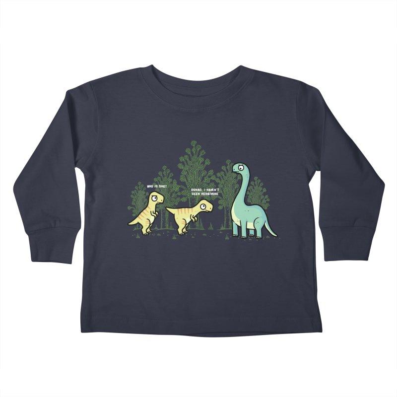 Herbivore Kids Toddler Longsleeve T-Shirt by Randyotter