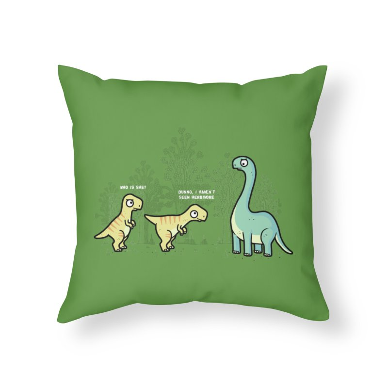 Herbivore Home Throw Pillow by Randyotter