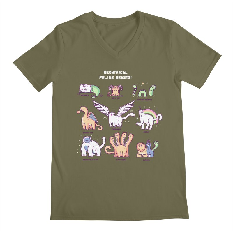 Meothical beasts Men's V-Neck by Randyotter