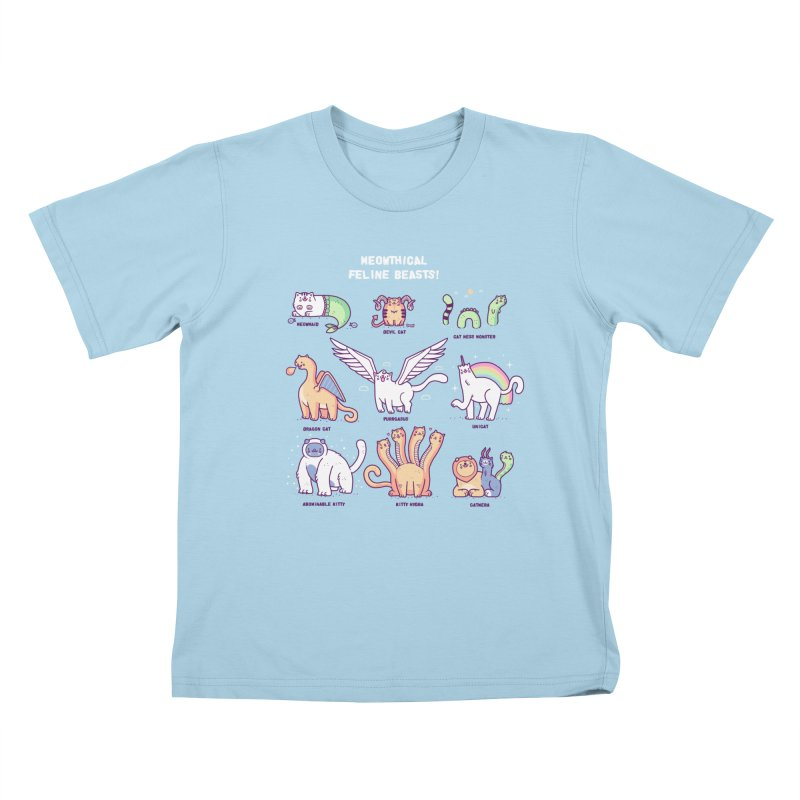 Meothical beasts Kids T-shirt by Randyotter