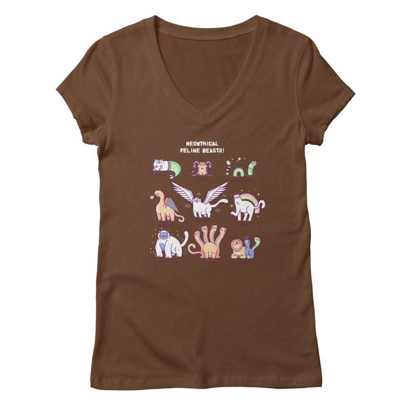 Meothical beasts Women's V-Neck by Randyotter
