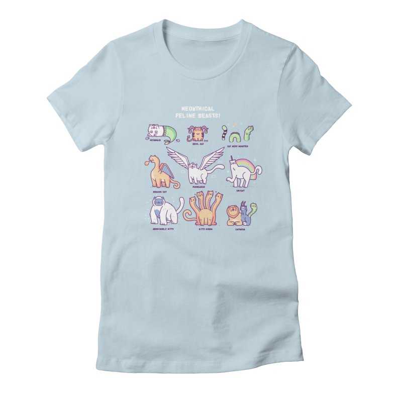 Meothical beasts Women's Fitted T-Shirt by Randyotter