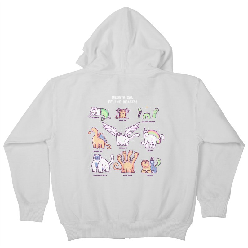 Meothical beasts Kids Zip-Up Hoody by Randyotter