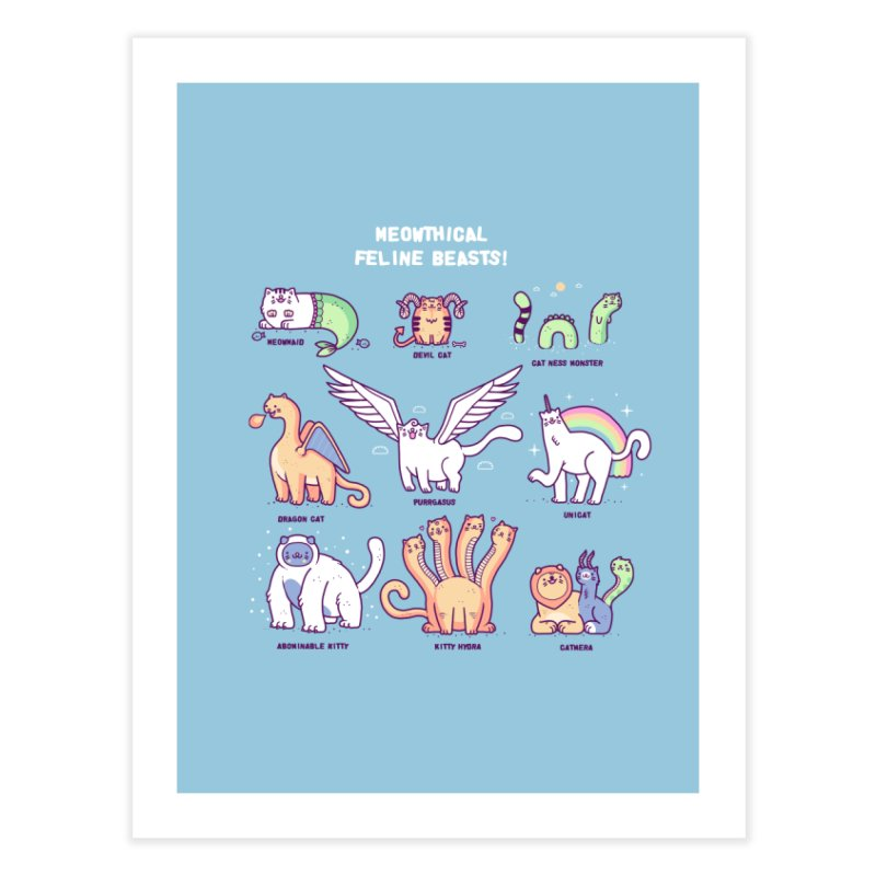 Meothical beasts Home Fine Art Print by Randyotter