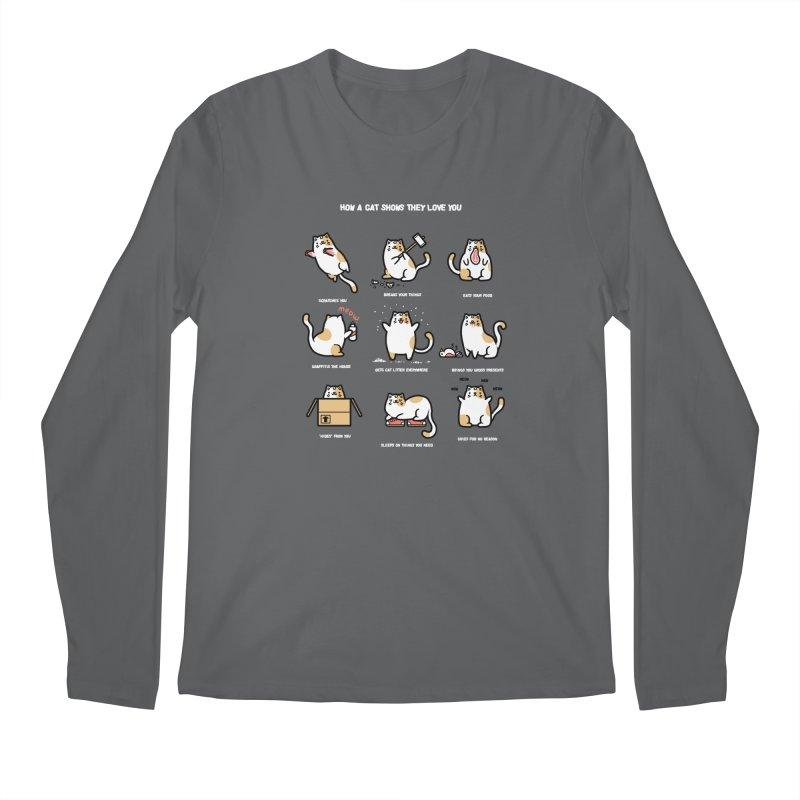 Cat love Men's Longsleeve T-Shirt by Randyotter